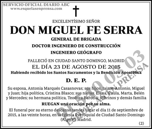 Miguel Fe Serra